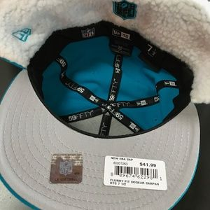 3d892ff1 Carolina Panthers Flurry Fit Dog Ear Fitted Hat Boutique